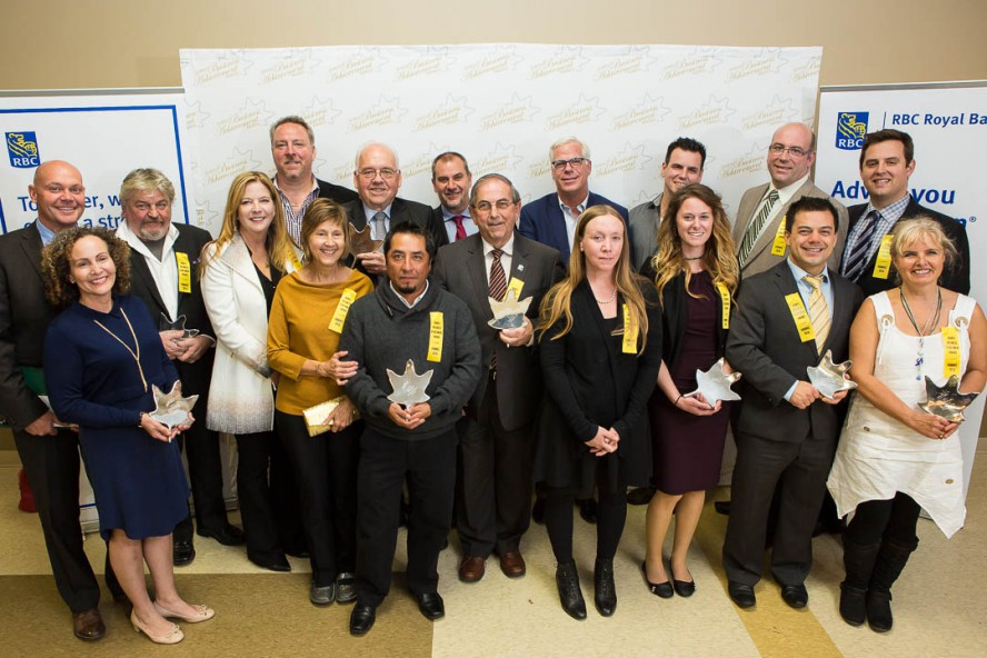 A group photo of the Quinte Business Achievement Award winners and delegates.